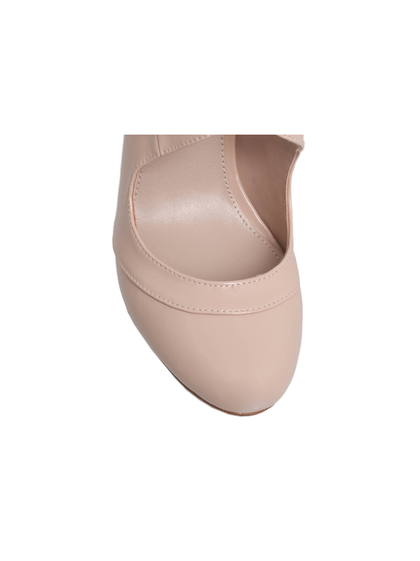 a6b888800b ... Buy Miss KG Natalie Stiletto Heeled Court Shoes, Nude Patent, 3 Online  at johnlewis