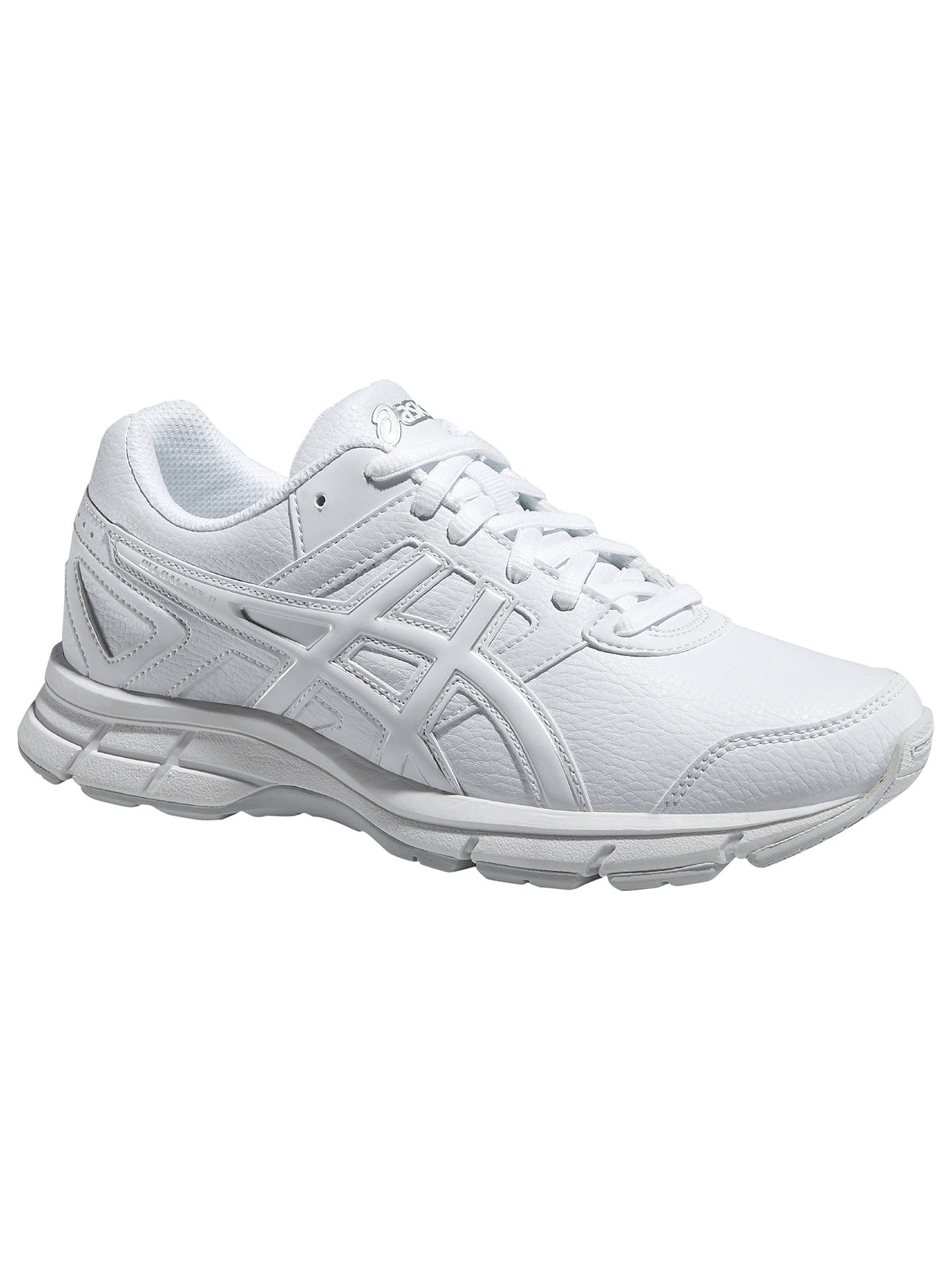 e77707450d45 Asics Children's Gel-Galaxy 8 GS Running Shoes, White/Silver at John ...