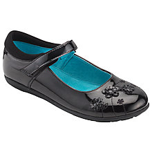Buy John Lewis Children's Wimbledon Flower Mary Jane Shoes, Black Online at johnlewis.com