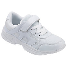 Buy John Lewis Children's Stratford Trainers, White Online at johnlewis.com
