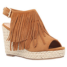 Buy Miss KG Peyton Fringed Wedge Heeled Sandals, Tan Online at johnlewis.com
