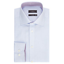 Buy John Lewis Non Iron Semi Plain Tailored Fit XL Sleeve Shirt, Light Blue Online at johnlewis.com
