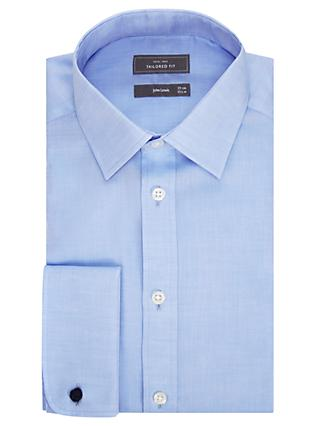 John Lewis & Partners Non Iron Twill Double Cuff Tailored Fit Shirt