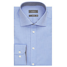 Buy John Lewis Non Iron Satin Dobby Tailored Shirt, Blue Online at johnlewis.com