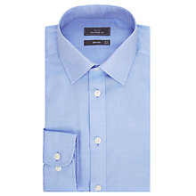 Buy John Lewis Non Iron Twill Tailored Fit Shirt, Blue Online at johnlewis.com
