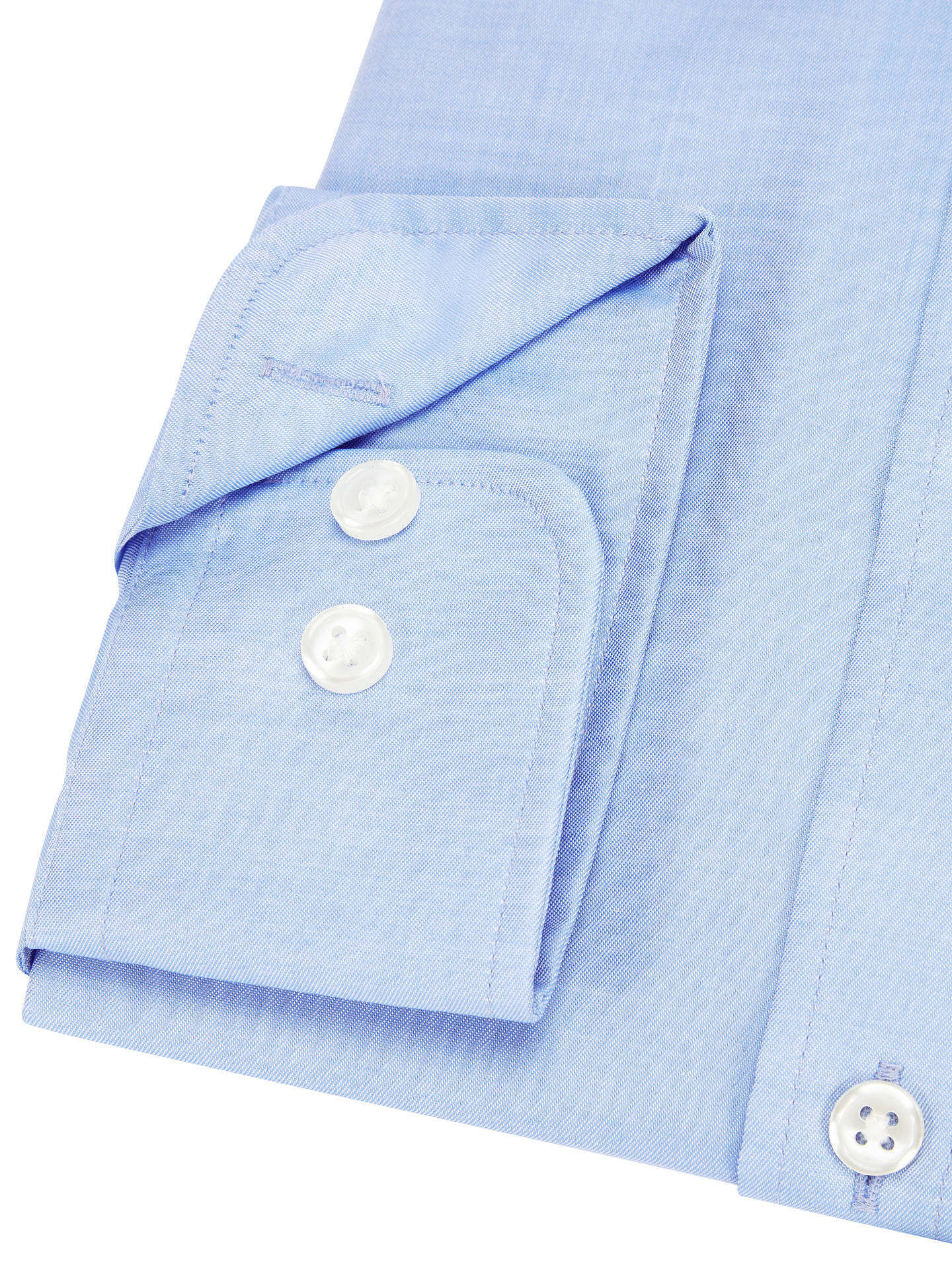 BuyJohn Lewis & Partners Non Iron Twill Tailored Fit Shirt, Blue, 15 Online at johnlewis.com