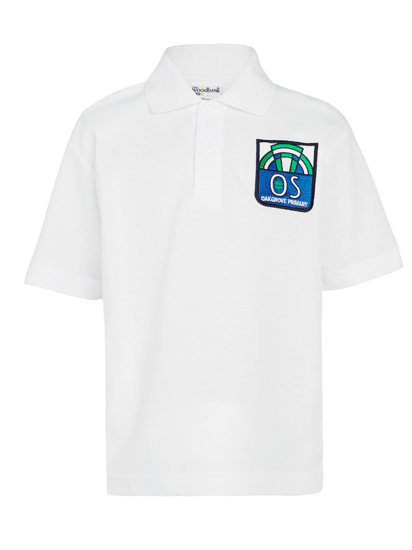 Buy Oakgrove Primary School Polo Shirt, White, 3-4 years Online at johnlewis.com