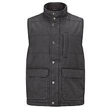 Buy John Lewis Wax Faux Gilet, Charcoal Online at johnlewis.com