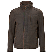 Buy John Lewis Wax Faux Shortie Jacket, Brown Online at johnlewis.com