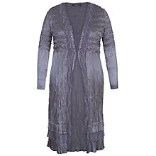 Buy Chesca Lace Crush Pleat Coat, Steel Online at johnlewis.com