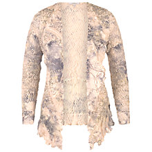 Buy Chesca Lace Trim Printed Crush Pleat Shrug, Pale Apricot Online at johnlewis.com