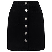 Buy Miss Selfridge Patch Pocket Skirt, Black Online at johnlewis.com