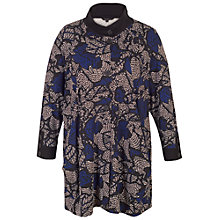 Buy Chesca Printed Jersey Coat, Blue/Multi Online at johnlewis.com