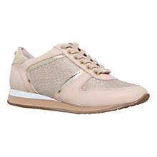 Buy Carvela Lennie Leather Sport Shoes, Nude Online at johnlewis.com