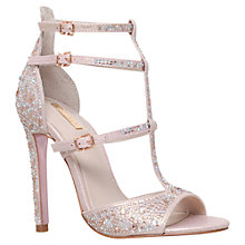 Buy Carvela Gaye Multi Strap Stiletto Sandals, Pink Embellished Online at johnlewis.com
