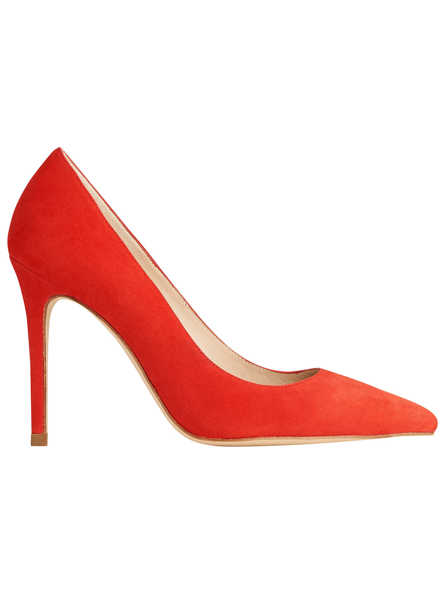 BuyL.K. Bennett Fern Point Toe Leather Court Shoes, Cardinal Red Suede, 2 Online at johnlewis.com
