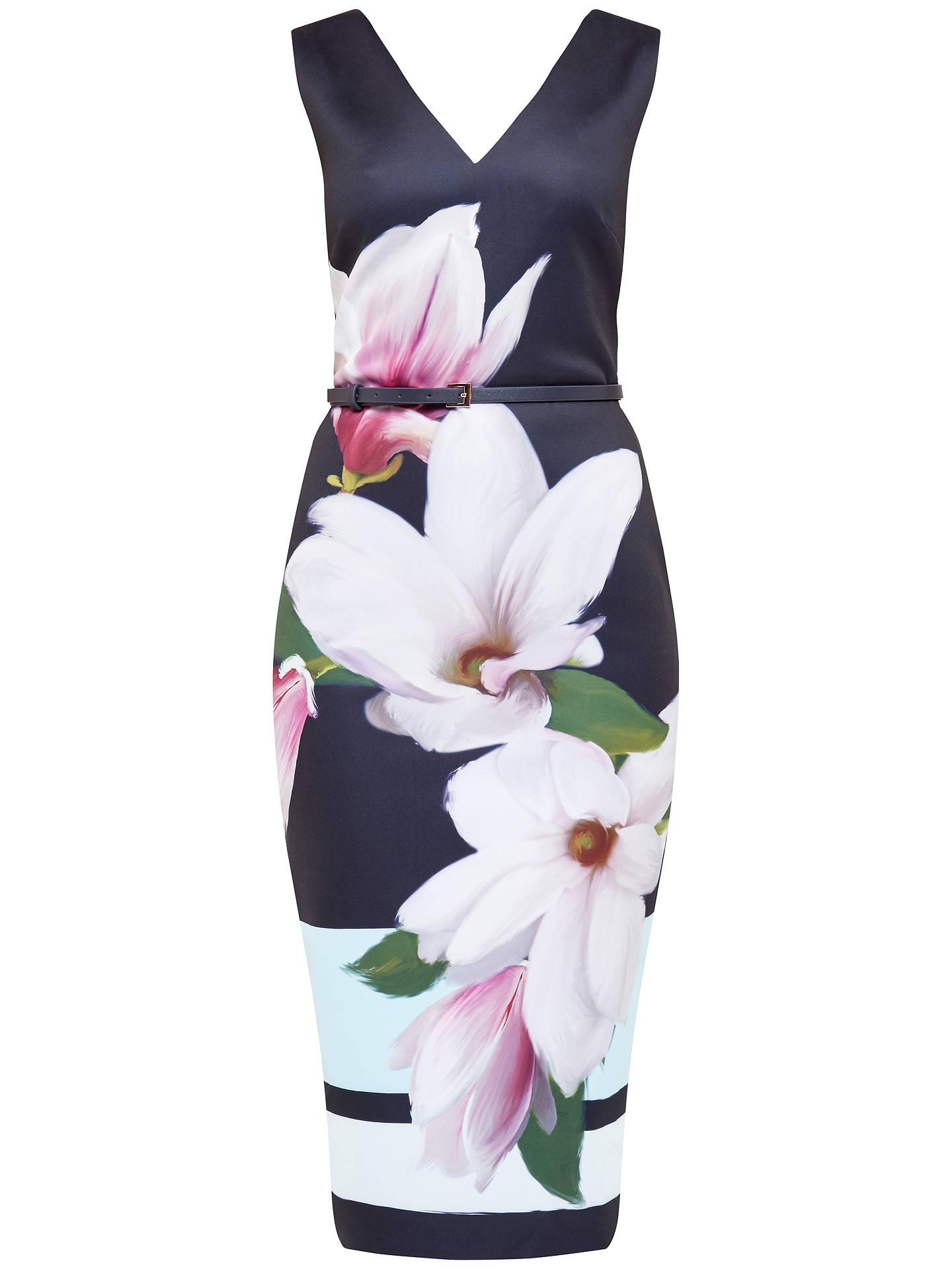 cfb1888bb50 Buy Ted Baker Magnolia Stripe Dress, Navy, 0 Online at johnlewis.com ...