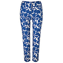 Buy Phase Eight Fleur Print Trousers, Cobalt/White Online at johnlewis.com
