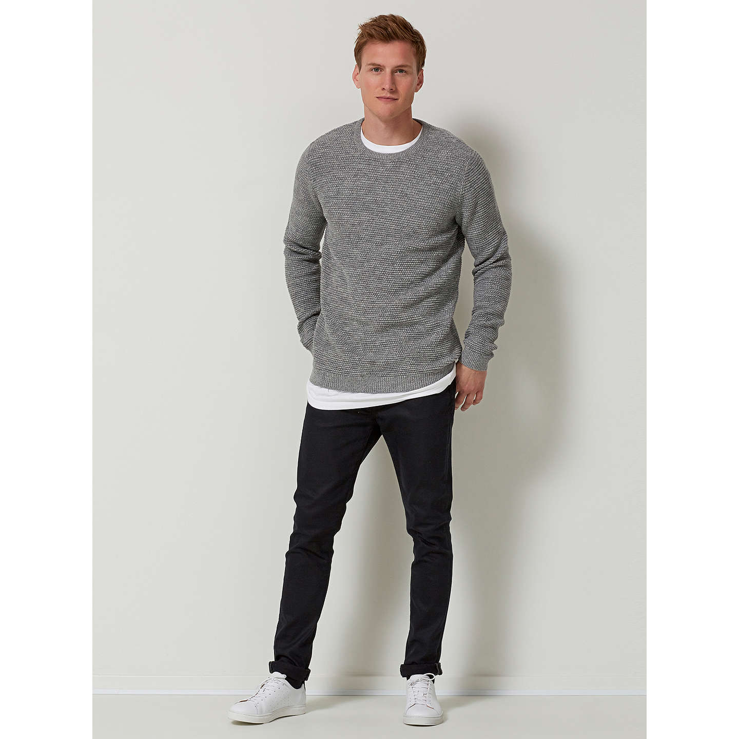 BuySelected Homme Vince Bubble Jumper, Medium Grey, XL Online at johnlewis.com