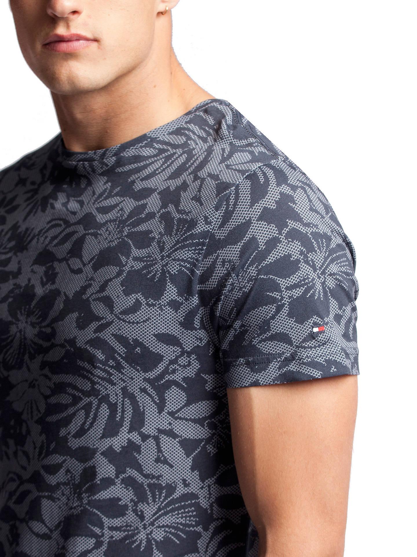 Tommy Hilfiger Fran Floral Print T shirt, Dutch Navy at John
