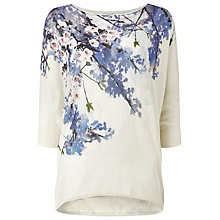 Buy Phase Eight Aria Trailing Floral Jumper, White/Multi Online at johnlewis.com