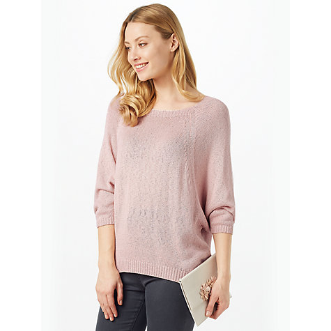 Buy Phase Eight Bianca Batwing Jumper, Pale Pink Online at johnlewis.com