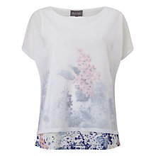 Buy Phase Eight Elenora Wisteria Top, White Online at johnlewis.com