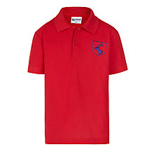 Buy Daiglen School Unisex Polo Shirt, Red Online at johnlewis.com