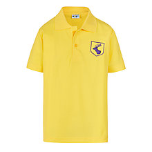 Buy Daiglen School Unisex Polo Shirt, Gold Online at johnlewis.com