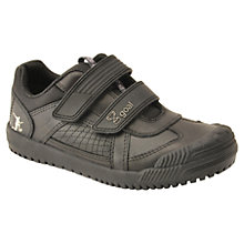 Buy Start-rite Children's Cup Final Leather Shoes, Black Online at johnlewis.com
