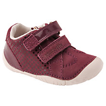 Buy Start-rite Children's Turin Rip-Tape Walking Shoes, Wine Online at johnlewis.com