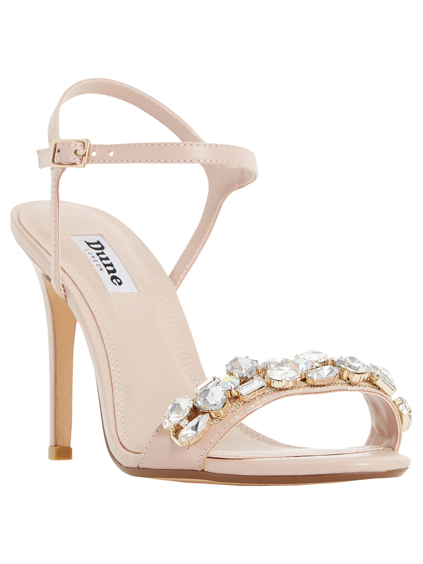 df1f8125e Dune Mya Jewel Embellished High Heel Sandals at John Lewis   Partners