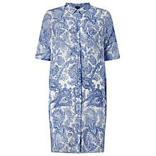 Buy Phase Eight Ines Paisley Linen Shirt Dress, Blue/White Online at johnlewis.com