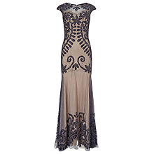 Buy Phase Eight Collection 8 Perseus Lace Applique Dress, Nude/Navy Online at johnlewis.com