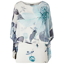 Buy Phase Eight Chantay Rose Silk Blouse, Ivory/Blue Online at johnlewis.com