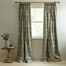 Morris Co Strawberry Thief Lined Pencil Pleat Curtains Online At Johnlewis