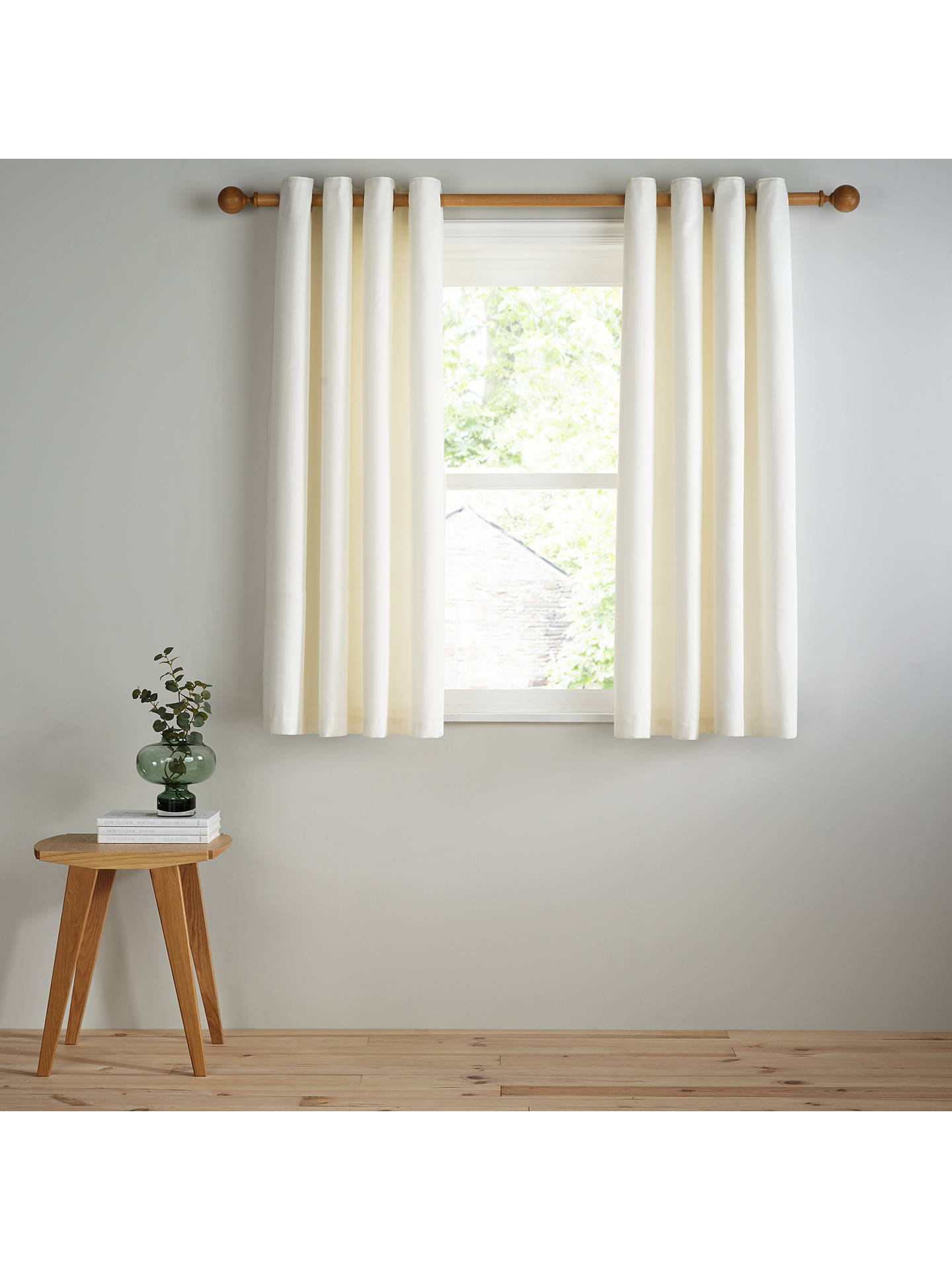 Buy John Lewis & Partners Barathea Pair Lined Eyelet Curtains, Oyster, W167 x Drop 182cm Online at johnlewis.com
