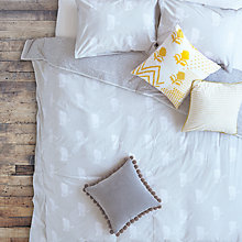 Buy The Jay St. Block Print Company Chita Cotton Bedding, Soft Grey Online at johnlewis.com