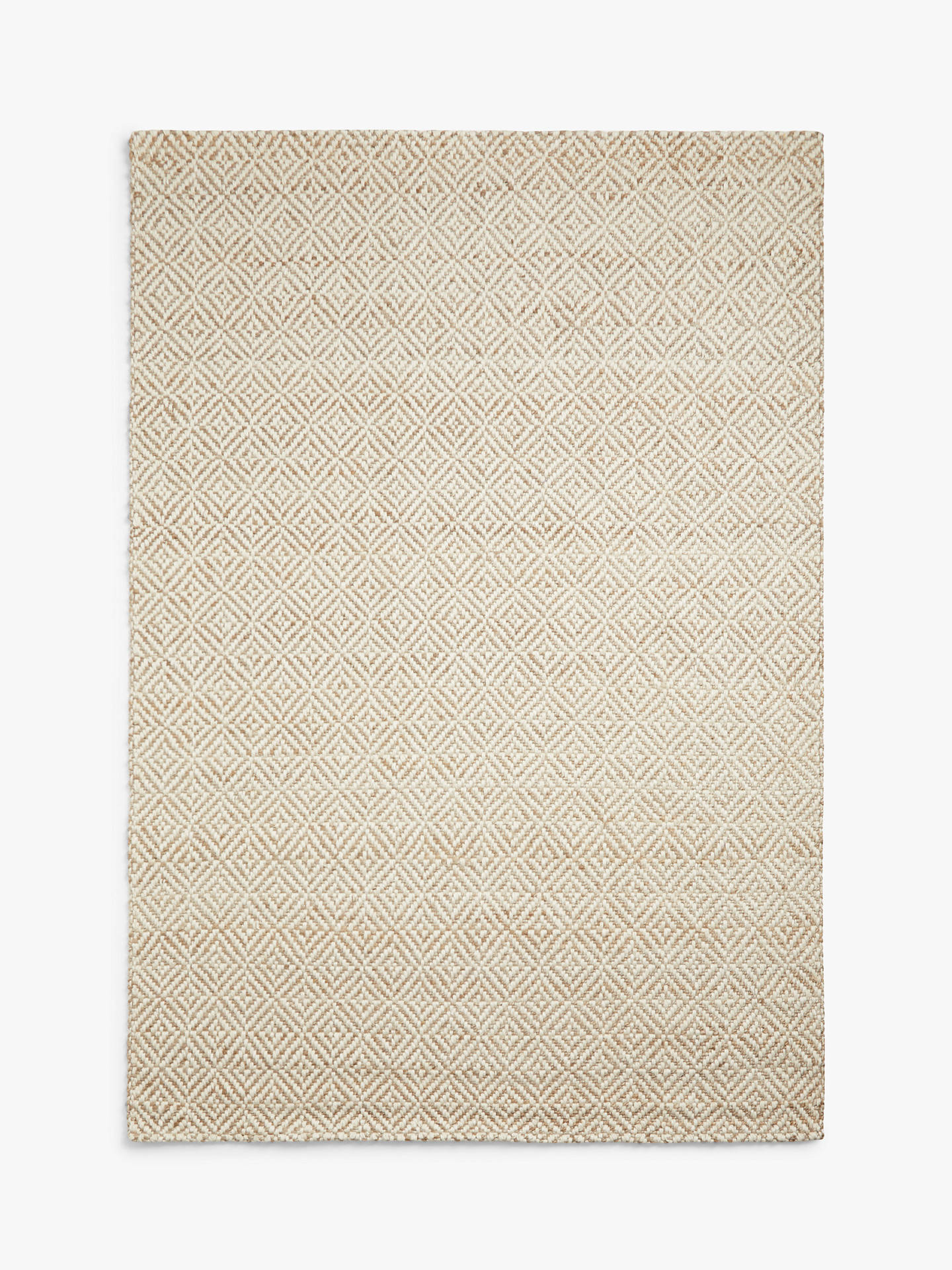 Buy John Lewis & Partners Lattice Rug, Lattice White / Natural, L150 x W90cm Online at johnlewis.com