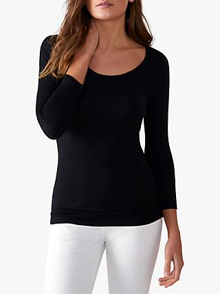 Pure Collection Soft Jersey Scoop Neck Top