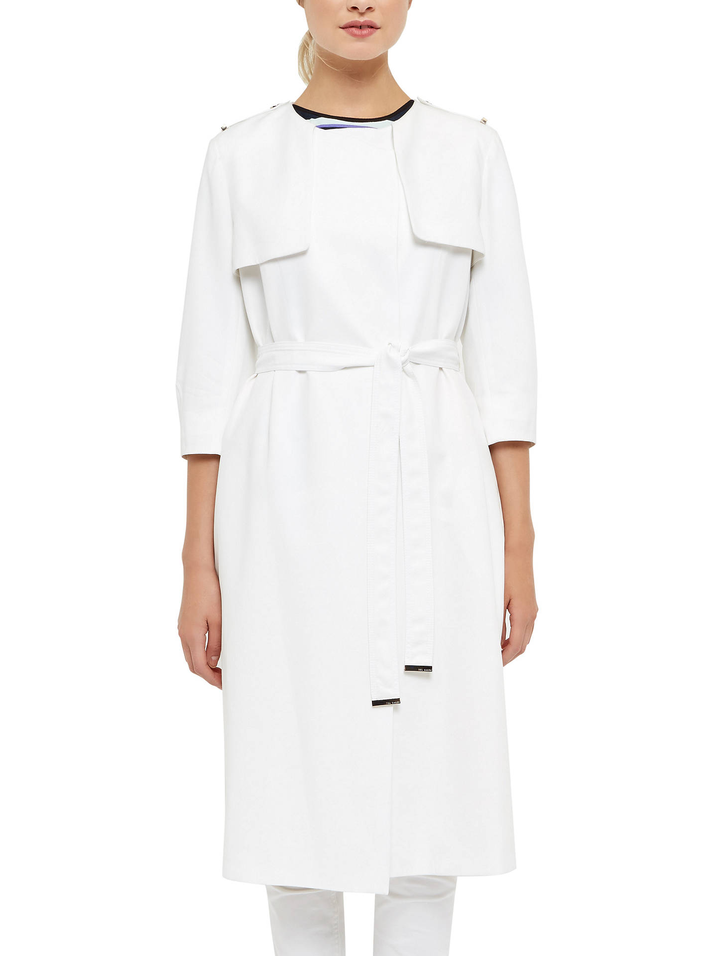 BuyTed Baker Paulaa Lightweight Trench Coat, Cream, 0 Online at johnlewis.com