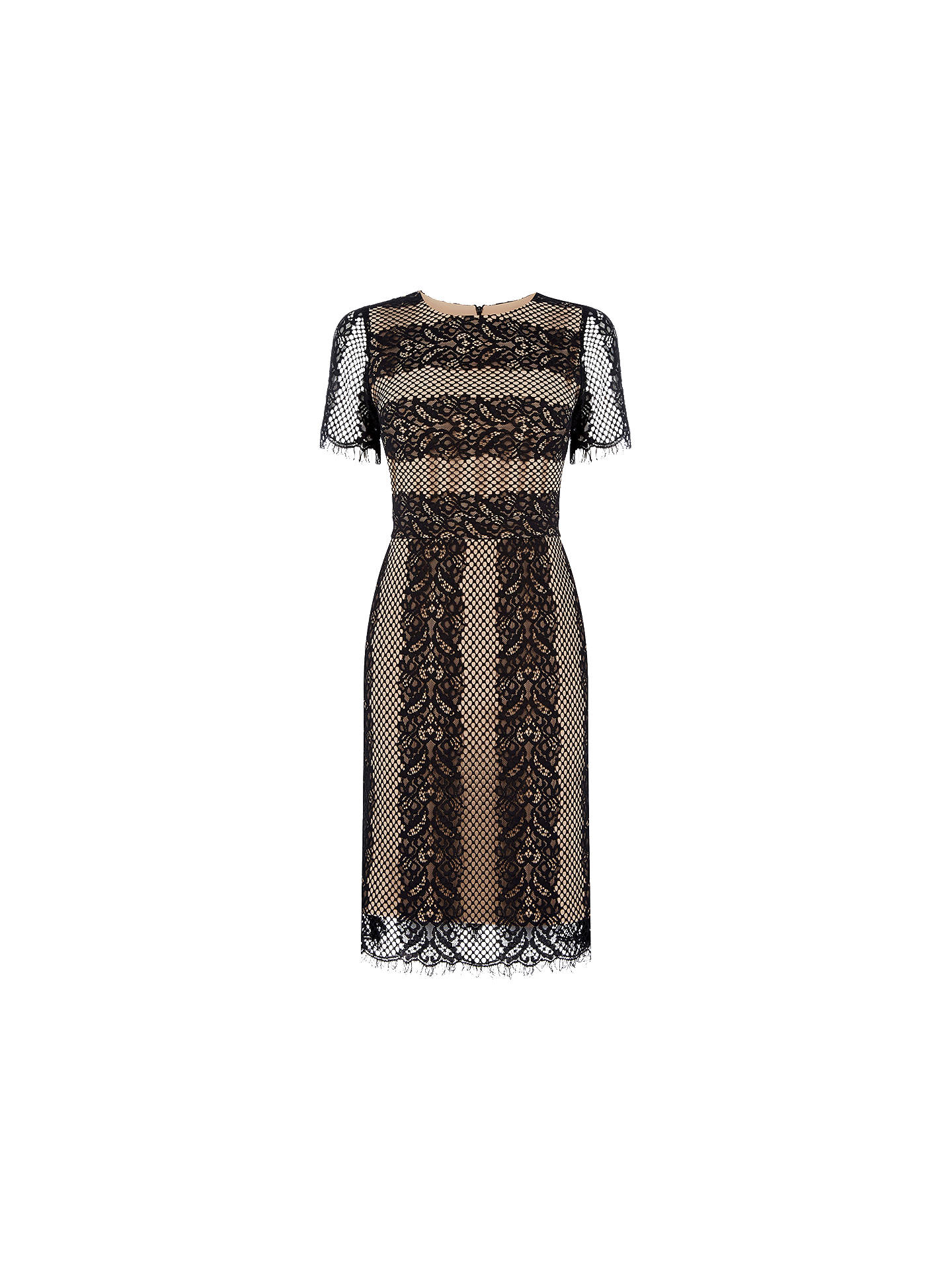 9430760db572 Buy Oasis Striped Lace Dress, Multi/Black, 8 Online at johnlewis.com ...