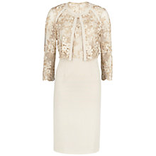 Buy Gina Bacconi Embroidered Bodice Dress And Jacket, Gold Online at johnlewis.com
