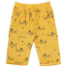 Buy John Lewis Baby Dog Print Corduroy Trousers, Yellow Online at johnlewis.com