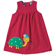 Buy Frugi Organic Baby Corduroy Tortoise Dress, Pink/Multi Online at johnlewis.com