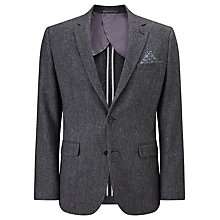 Buy John Lewis Herringbone Wool Tailored Blazer, Grey Online at johnlewis.com