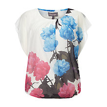 Buy Phase Eight Mina Floral Top, Ivory/Multi Online at johnlewis.com