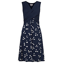 Buy Phase Eight Renee Spot Dress, Navy/Ivory Online at johnlewis.com