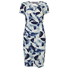 Buy Phase Eight Feather Print Dress, Ivory/Blue Online at johnlewis.com