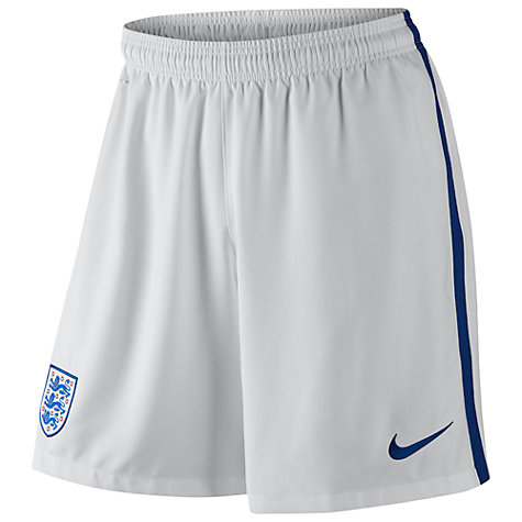 Buy Nike England Stadium Football Shorts, White Online at johnlewis.com